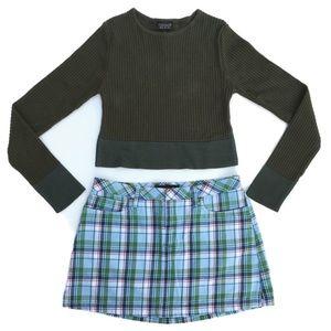 Abercrombie & Fitch Womens Retro Plaid Mini Skirt
